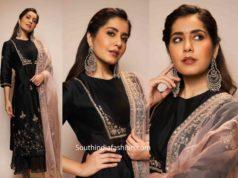 raashi khanna black palazzo suit