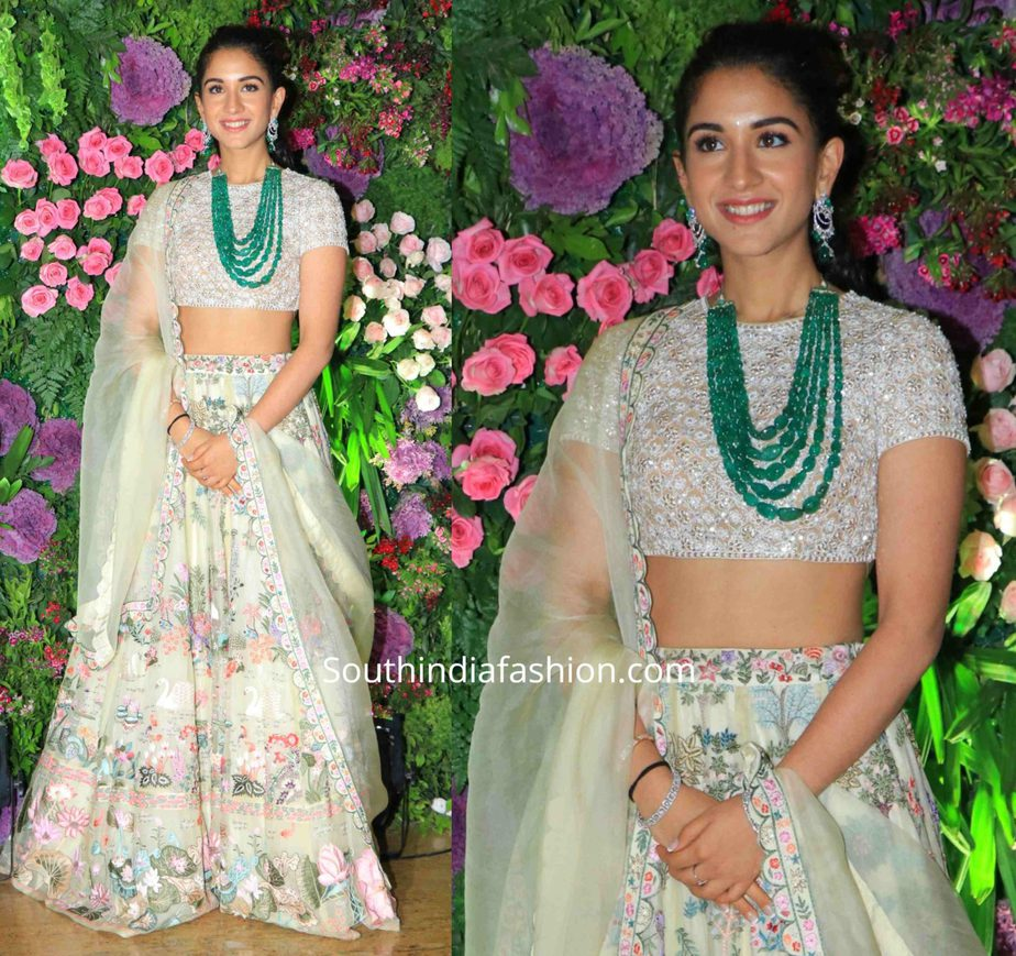 radhika merchant lehenga at armaan jain wedding reception (1)