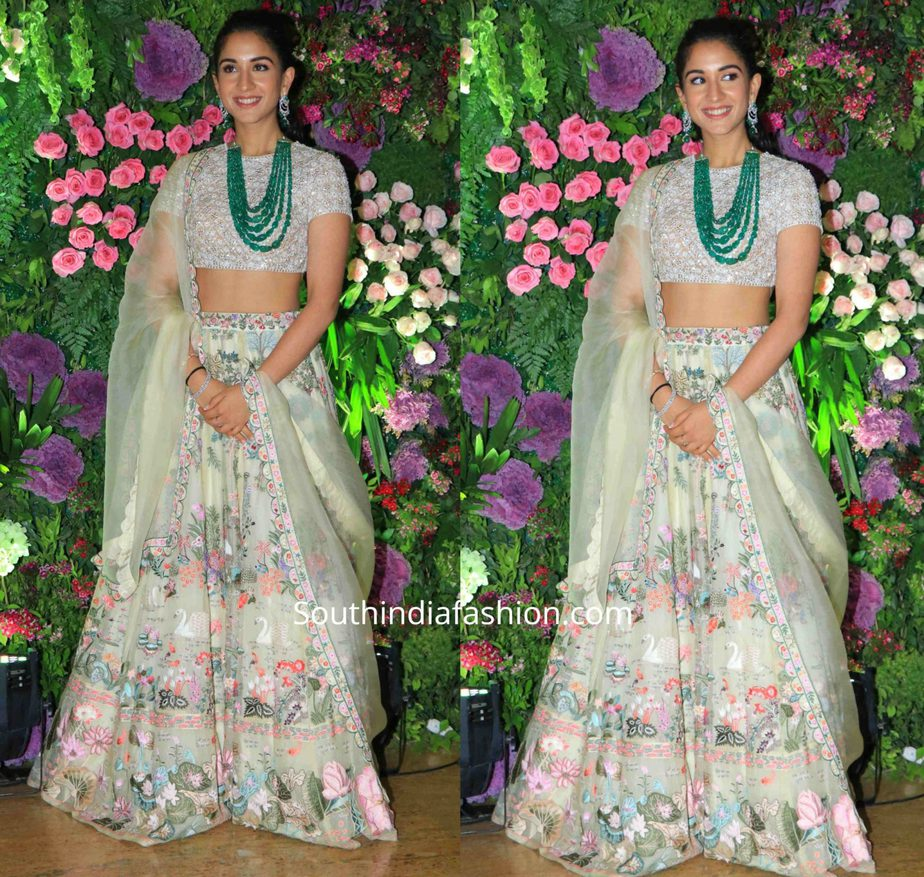 radhika merchant lehenga at armaan jain wedding reception (3)