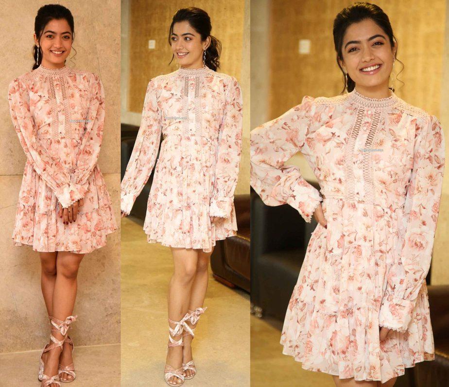 Rashmika Mandanna At Bheeshma Success Meet South India Fashion