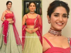 ruhani sharma lehenga at hit movie pre release event (2)