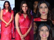 samantha akkineni in red floral saree at jaanu pre release event (1)