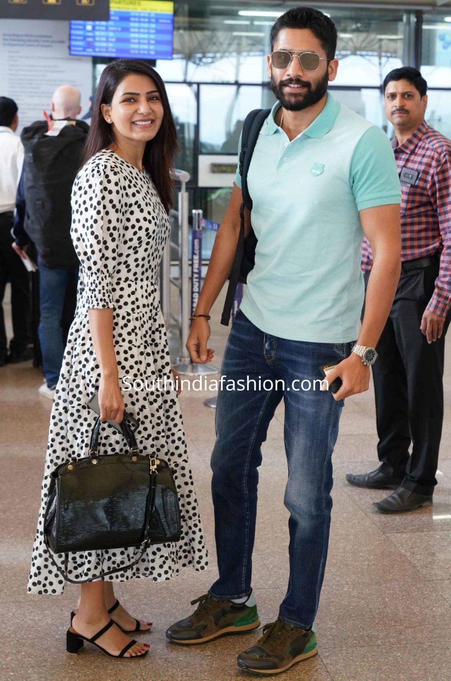 samantha naga chaitanya at airport (1)