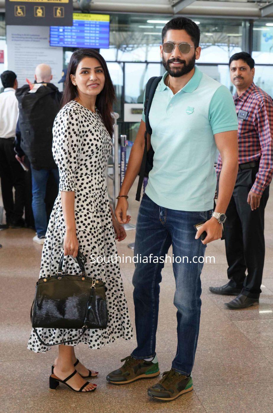 samantha naga chaitanya at airport (2)