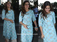 sara ali khan in blue kurta set