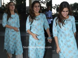 sara ali khan in blue kurta set