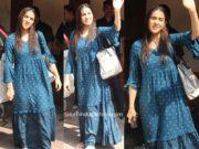sara ali khan in global desi maxi dress