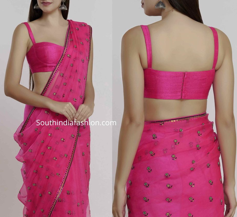 saree blouse with thin straps