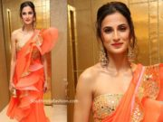 shilpa reddy in abu jani sandeep khosla ruffle saree