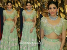 shloka ambani green lehenga at armaan jain wedding reception (1)