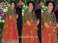 shloka ambani mehta in sabyasachi lehenga at armaan jain wedding (2)