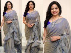 singer sunitha ruffle saree