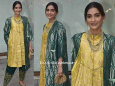 sonam kapoor in raw mango green yellow salwar kameez (1)