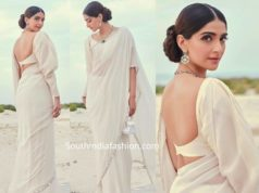sonam kapoor in white manish malhotra saree