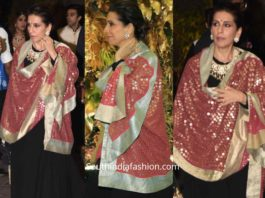 sunita kapoor black anarkali at armaan jain wedding reception (2)