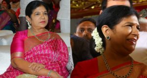 surekha konidela silk saree at kodi rama krishna daughter wedding