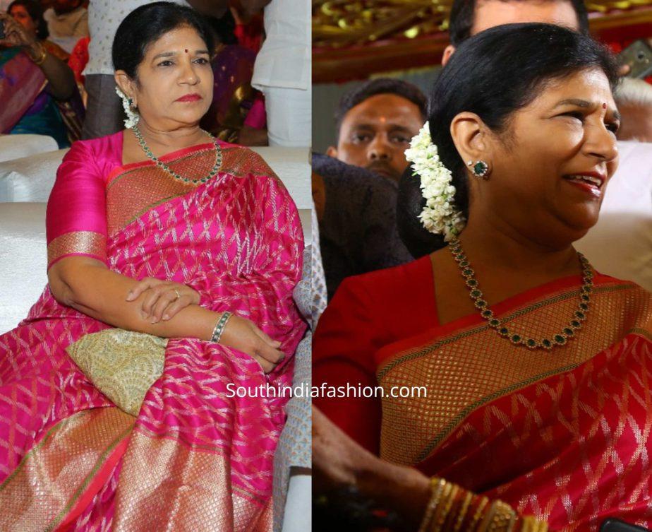 surekha konidela silk saree at kodi rama krishna daughter wedding