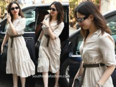 tamannaah bhatia casual look white dress