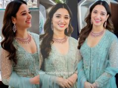 tamannaah bhatia in blue anarkali at malabar gold and diamonds launch (3)