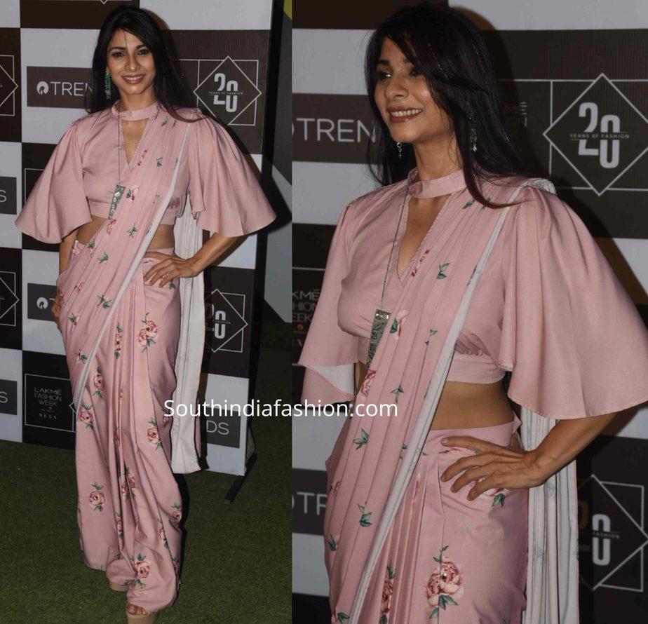tanisha mukerji saree lakme fashion week (1)