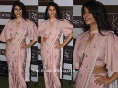 tanisha mukerji saree lakme fashion week