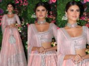 tara sutaria in pink lehenga at armaan jaij wedding (5)
