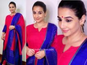 vidya balan in red and blue salwar kameez by gaurang shah