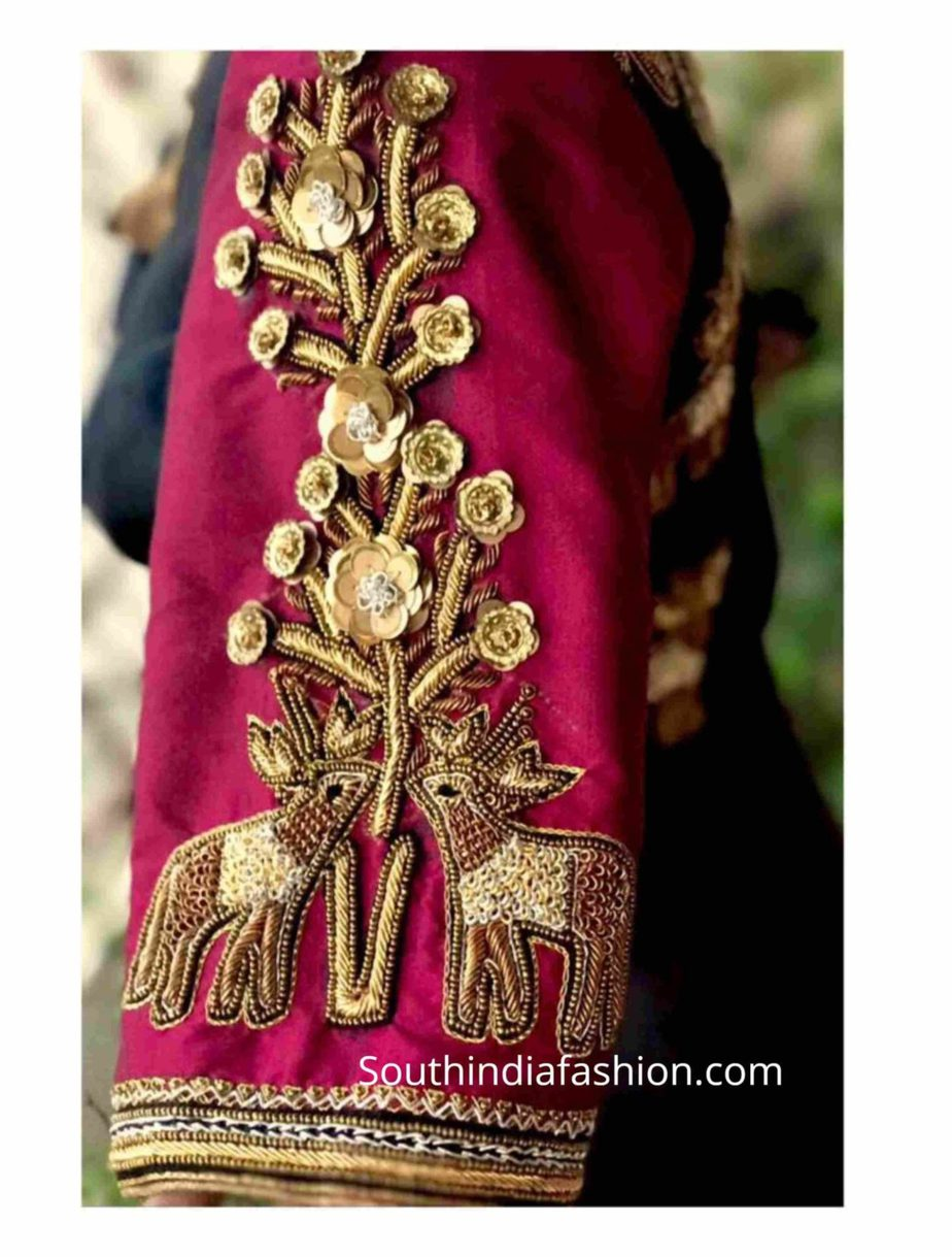 BRIDAL WEDDING SAREE BLOUSE DESIGNS BY AADAMBHARA (1)