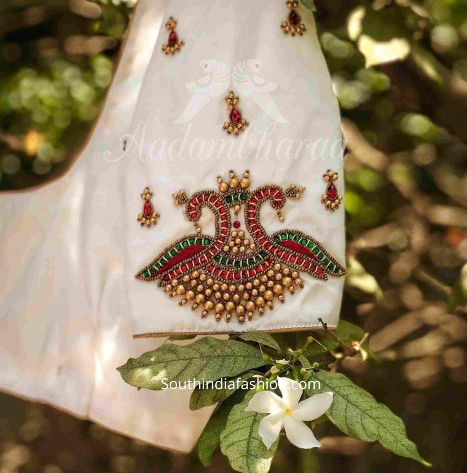 BRIDAL WEDDING SAREE BLOUSE DESIGNS BY AADAMBHARA (2)
