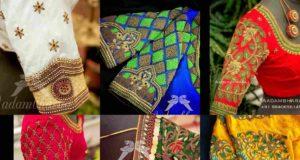 BRIDAL WEDDING SAREE BLOUSE DESIGNS BY AADAMBHARA