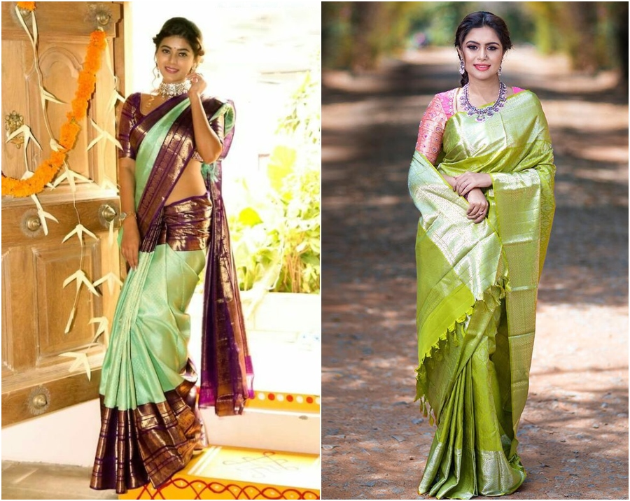 Pastel Color Kanjeevaram Sarees