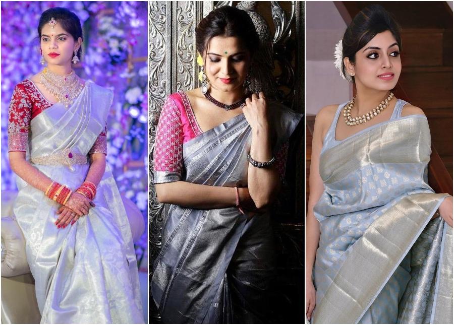 Pastel Color Kanjeevaram Sari