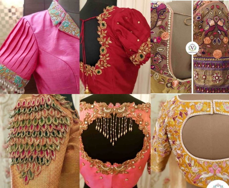 aari work blouse designs 2020