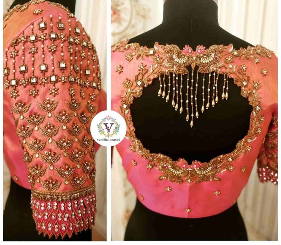 aari work blouse for silk sarees