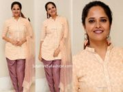 anasuya in kurti dhoti pants at o pittakadha pre release event