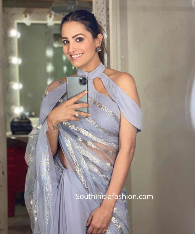 anita hassanandani choker blouse