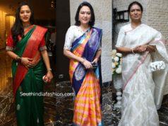 anitha chowdhary, hema, dk aruna silk sarees at jayasudha son wedding