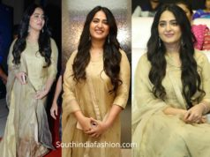 anushka shetty in gold sharara suit at 15 years film journey celebrations (1)