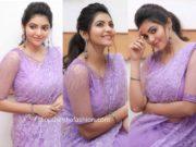 athulya ravi in lavender lace saree at jfw movie awards 2020 (2)