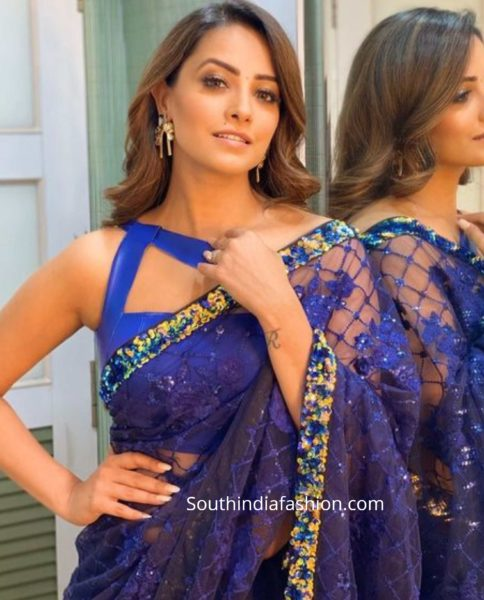bollywood serial actress saree blouse designs