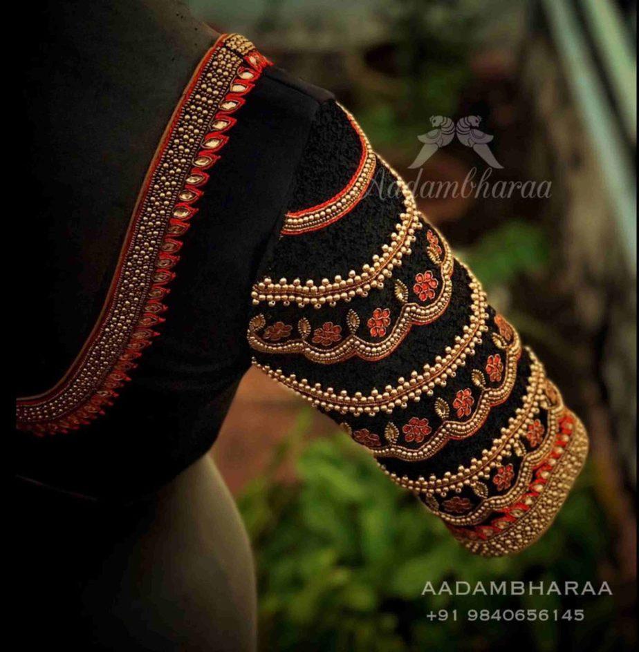bridal pattu saree blouse designs (1)