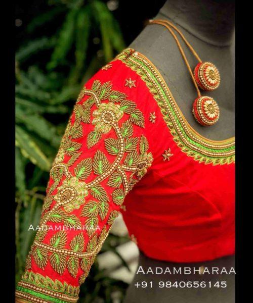 bridal pattu saree blouse designs (2)