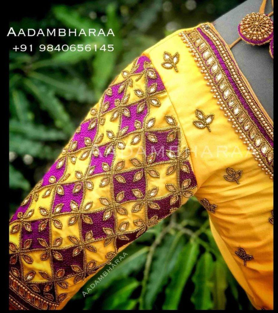 bridal pattu saree blouse designs (3)