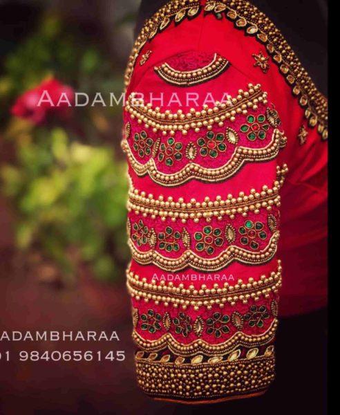 bridal pattu saree blouse designs