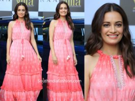 dia mirza in pink maxi dress by anita dongre grass root