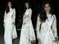 diana penty in white saree at isha ambani holi party