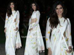 diana penty in white saree at isha ambani holi party