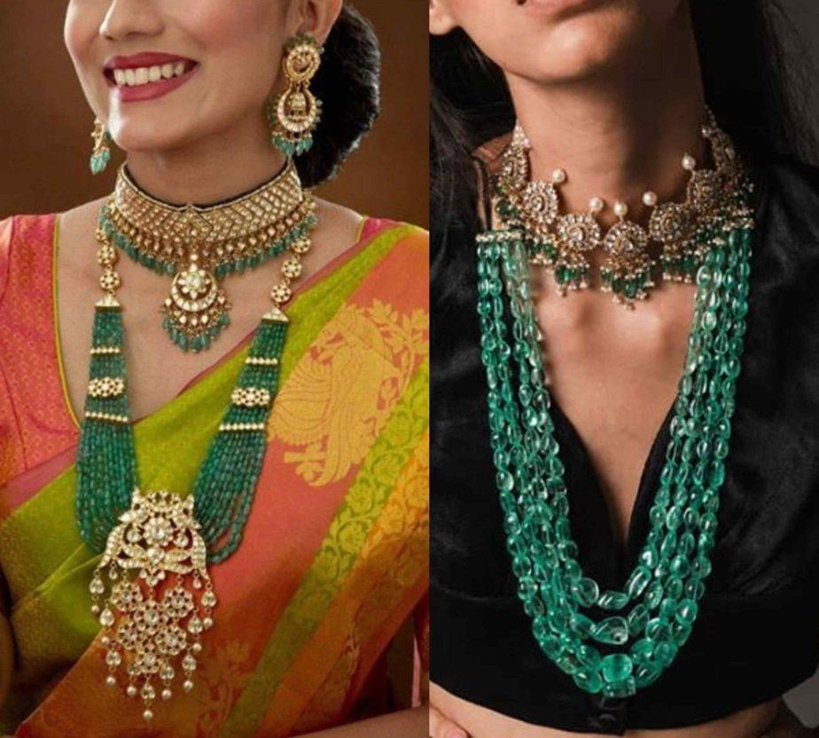 emerald beads jewellery (1)