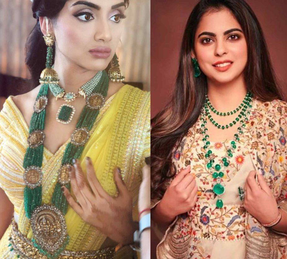 emerald beads jewellery