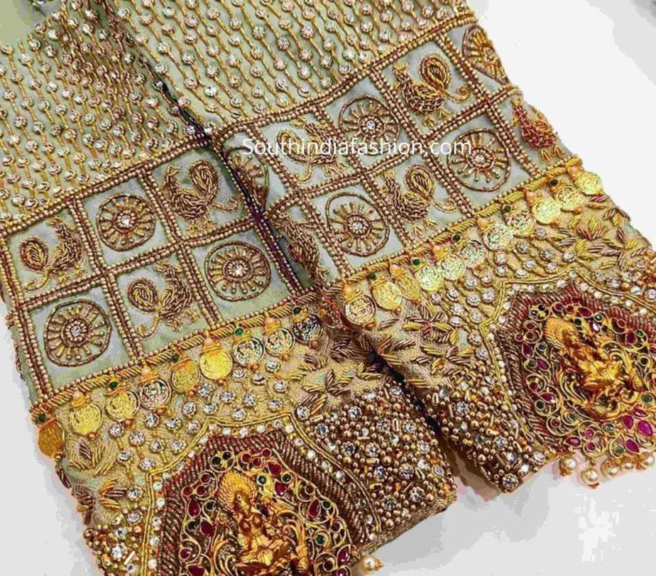 full aari work silk saree blouses (1)